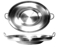 Deep Stainless Steel Comal