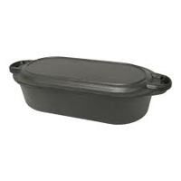Oval Fryer with Griddle Lid