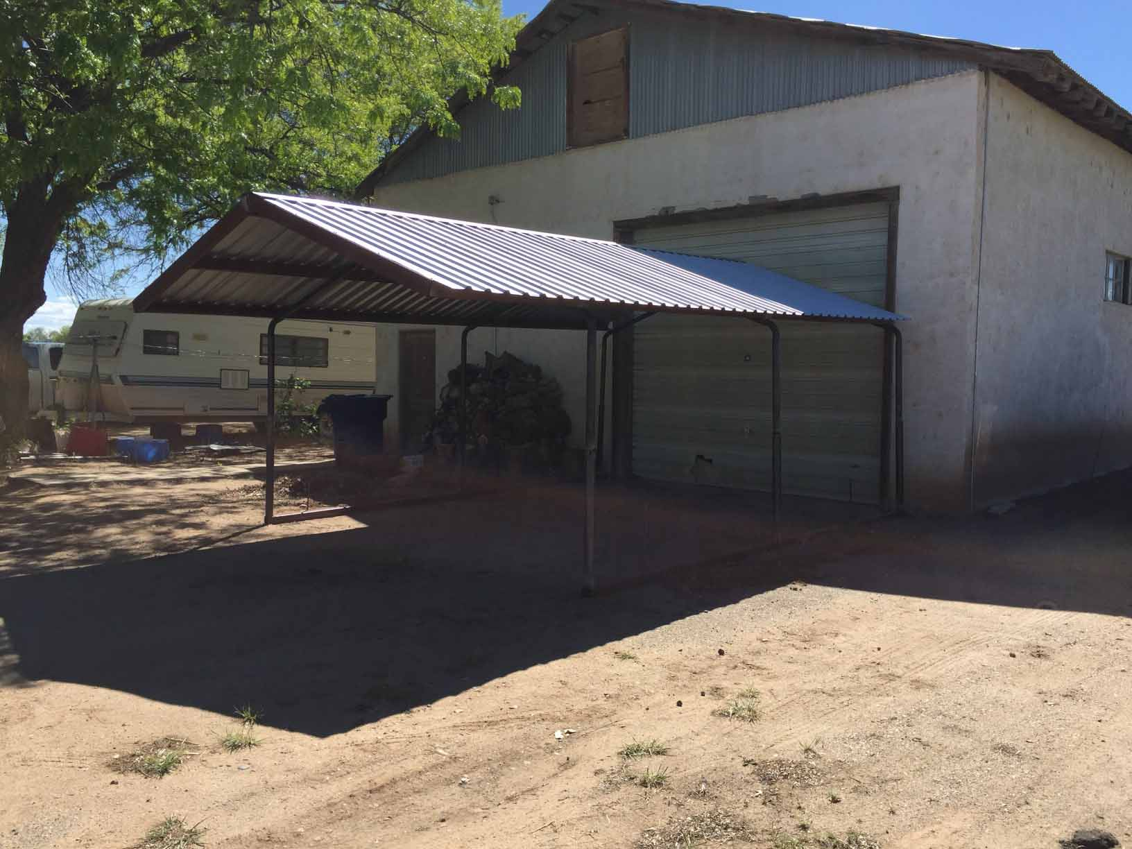 Aluminum Tube Shelters : Bent arch carport neds pipe and steel