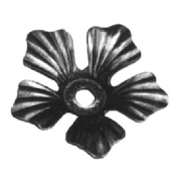 "Forged Steel Flower w/Hole. 3-1/2"" H"